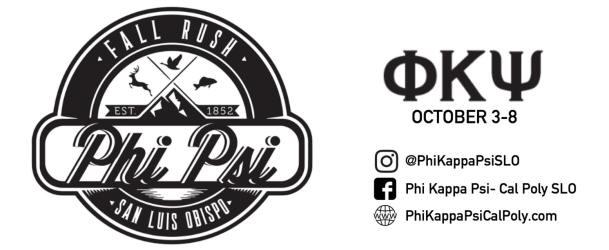 Phi Psi Fall rush card 2017